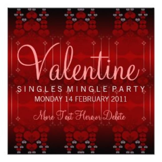 Single Mingle Valentine Party Invitations