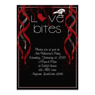 Love Bites Anti-Valentine Party Invitation
