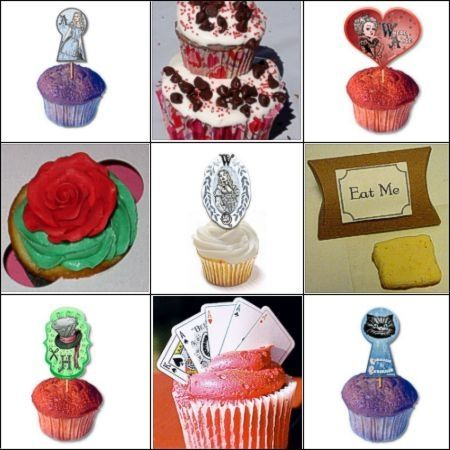 Alice in Wonderland Cupcake Ideas by Kirsti A. Dyer
