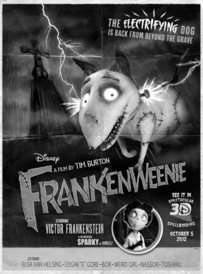 Frankenweenie Retro Poster 11 x 17