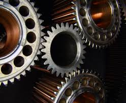Gears!  Wikimedia Commons.