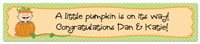 Personalized Pumpkin Baby Shower Banner