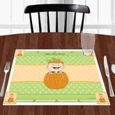 Pumpkin Baby Shower Placemats