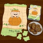 Pumpkin Baby Shower Puzzle Favor Ideas