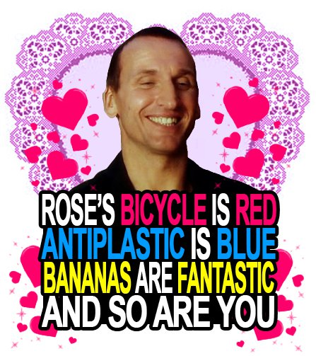 I love the ninth Doctor.  He is my favorite.  His companion was Rose and he uses the word fantastic alot.