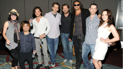 The cast of Game of Thrones looks so different out of costume!  Found this picture at geekout.blogs.cnn.com