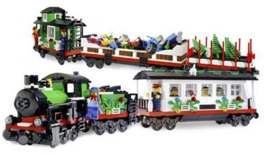 Put Together The LEGO Make And Create Holiday Train, All 965 pieces of it.  Assemble this holiday train with your family and make your own holiday train decoration.  Photo Credit: Amazon