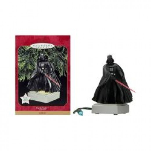 Darth Vader Star Wars Christmas Tree Ornament To Decorate Your Holiday Tree!  Picture of Darth V is from Amazon and you can find this Christmas ornament for sale on this page.