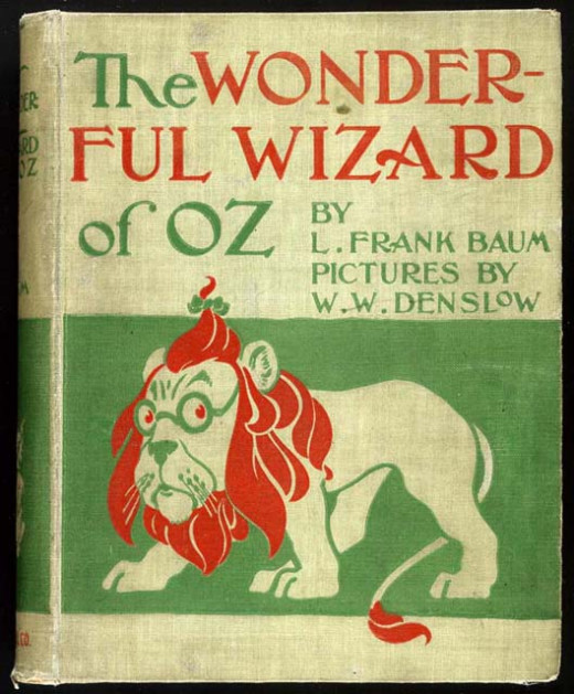 The Cover Of The Wonderful Wizard of Oz Published In May, 1900.