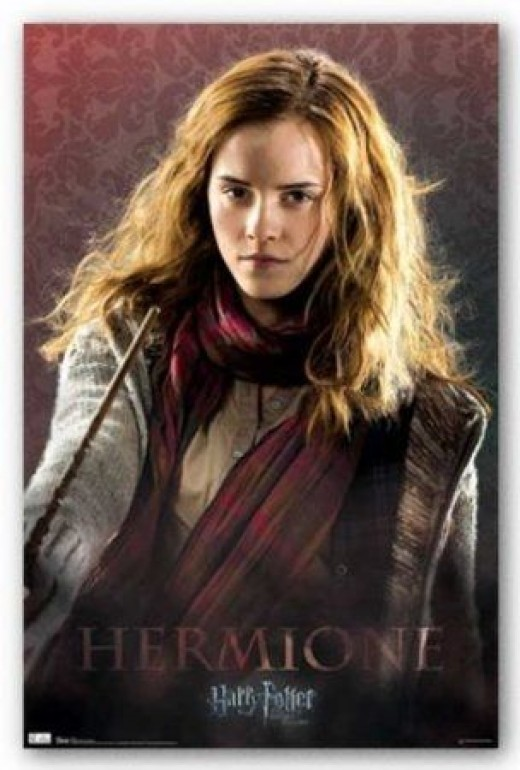 Miss Hermione Granger, Harry Potter's Best Friend, Ron Weasley's Girl Friend, And The Best Witch In Her Class At Hogwarts School Of Magic.  This picture is from Amazon and it's a poster you can buy on this page.