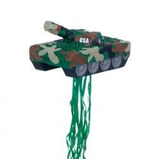 The Pull-String Camo Tank Pinata Is A Fun Kid's Party Game!
