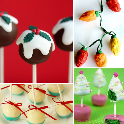 Found these great Christmas cake pop ideas at Lil Sugar.