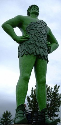 The Jolly Green Giant Statue Is In Blue Earth, Minnesota