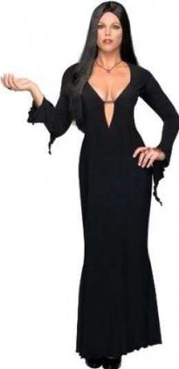 Morticia Addams Is A Great Plus Size Halloween Costume Idea.
