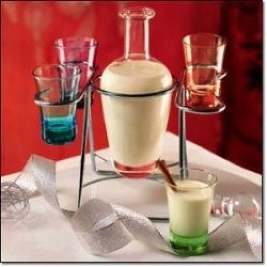 Here's a festive server to put your Coquito in!  Photo Credit:  Amazon