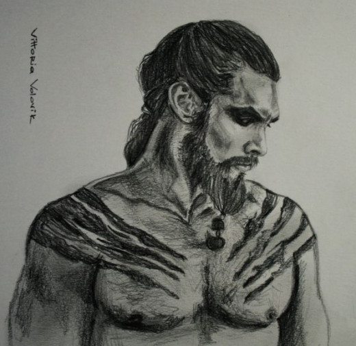 Khal Drogo Barbarian Drawing