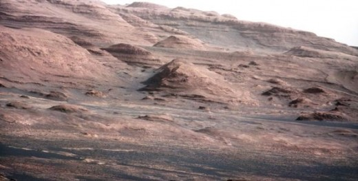 Mars Rover Pictures Taken By Curiosity at the base of Mount Sharp.  Photo Credit:  Public Domain Click On Photo