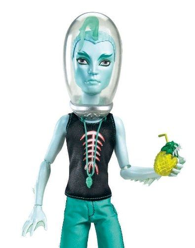 Gillington, or Gil as his friends call him, is on the Monster High swim team and he's a natural since he's the son of the River Monster.  The image is from Amazon and you can find the Gil Webber doll for sale on this page.