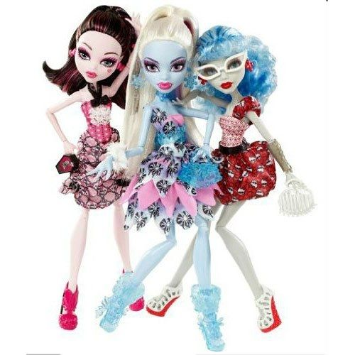 Here's A Monster High 3 Pack With Draculaura, Abbey Bominable, Ghoulia Yelps.  These dolls make a great girl's gift idea and it's perfect for Christmas or a birthday.  The image is from Amazon, to see more click the link.