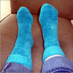 Warm Fuzzy Socks for Cold Feet in Bed