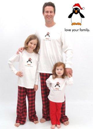 Penguin Motif Christmas Pajamas for the Family