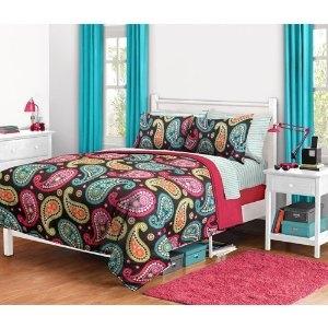 Bright Paisley Dorm Bedding Set
