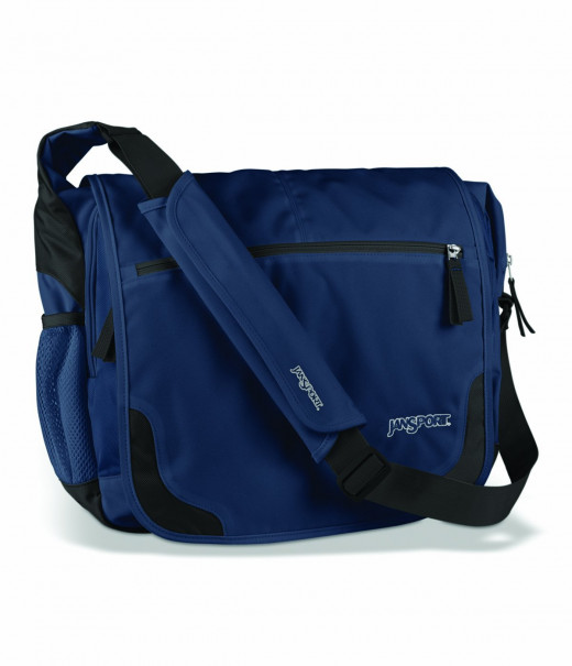 navy messenger bag