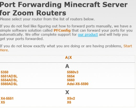 Port Forward List