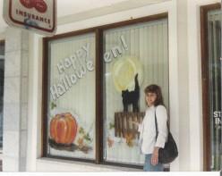Halloween Paintings On Windows