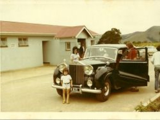 Enjoying our magnificent Rolls Royce Silver Wraith