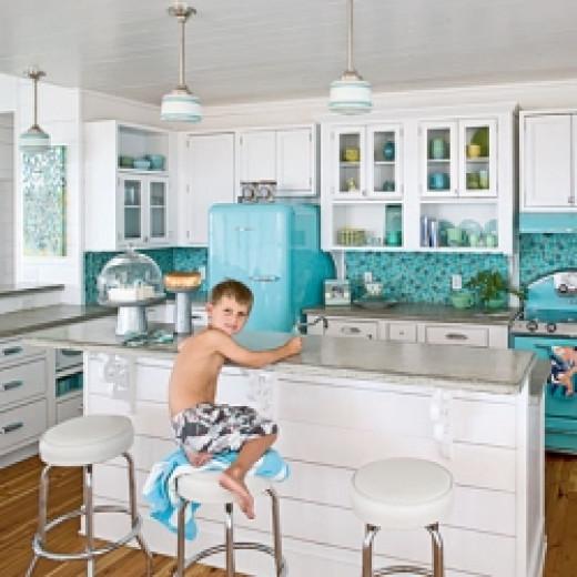 Sea Glass Inspired Kitchen