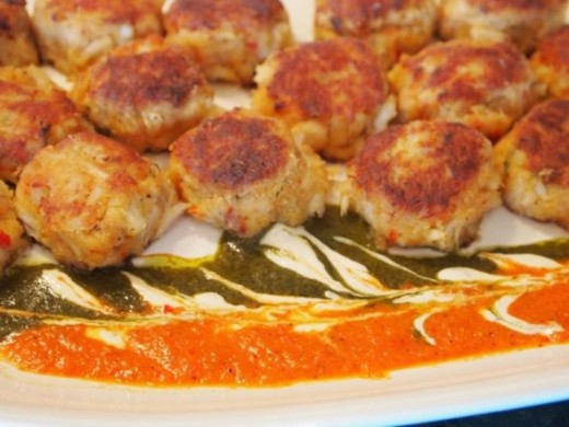 Mini Crab Cakes with Sauce