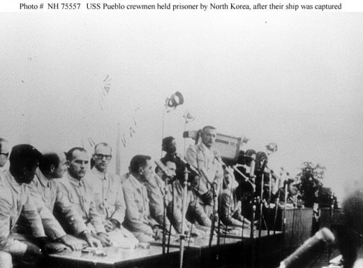 Pueblo Crew being exploited for propaganda purposes at North Korean News Conference