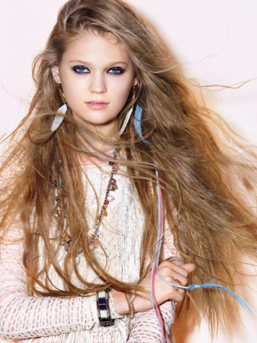 Feathery Wisps  Photo: TeenVogue.com - Boho Baby