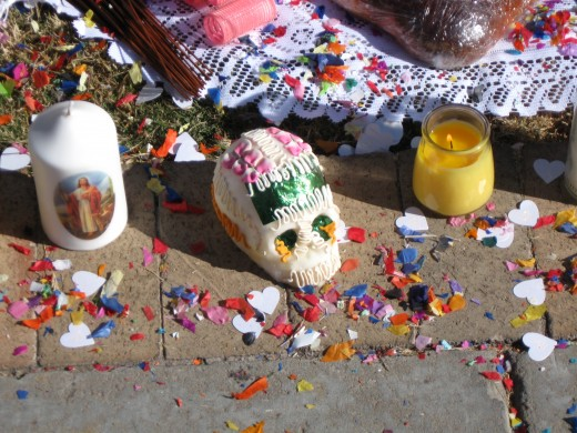 A Traditional Carved Sugar Skull Decoration