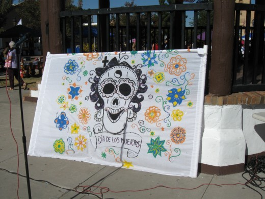 Decorative drawing of skull for El Día de los Muertos