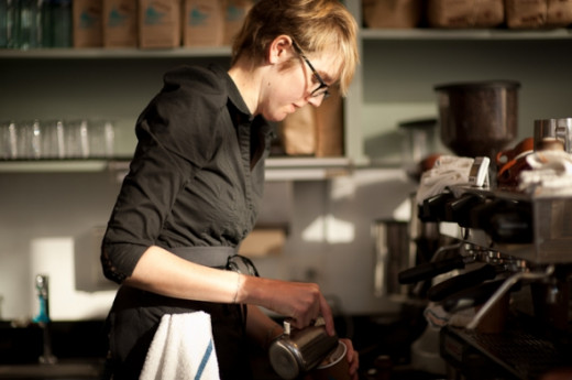 Blue Bottle barista