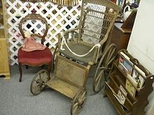 antique wheelchair