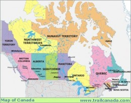 I grew up in the middle of Saskatchewan-- and if you pulled out Hudson Bay and the Eastern provinces collapsed in to take its place, you can see where my birthplace is actually about the middle of Canada...