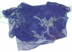 Elegant Chic & Artsy Hand Painted Designer Scarves Make Excellent Gifts