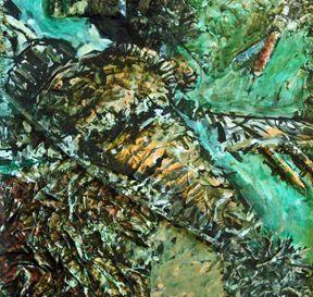 Detail of Somali painting copyright Leslie Sinclair