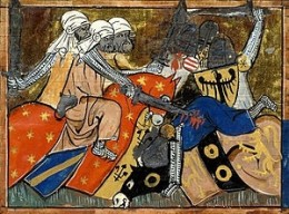 Battle in the Crusades.