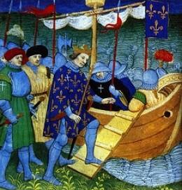 Louis IX Embarks for His Crusade.