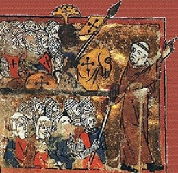 Peter the Hermit leads a Crusading Army.