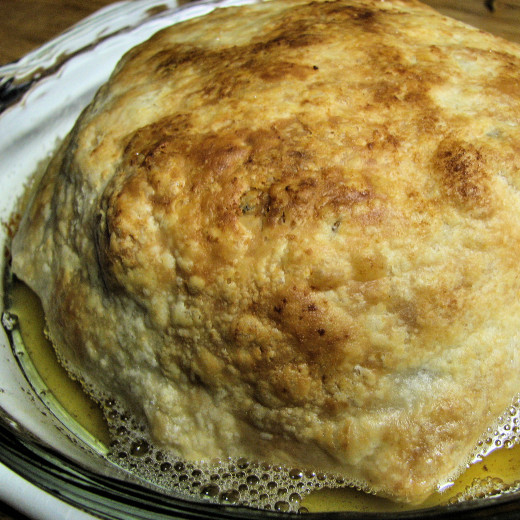 Golden pastry hides a surprise.
