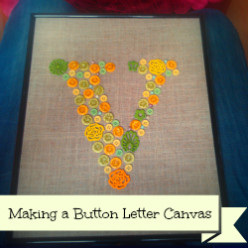 Making a Button Letters Canvas