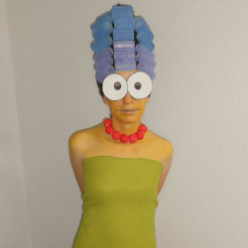Marge Simpson Costume - Halloween 2013
