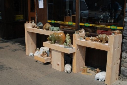 Soapstone carvings on Whyte Ave