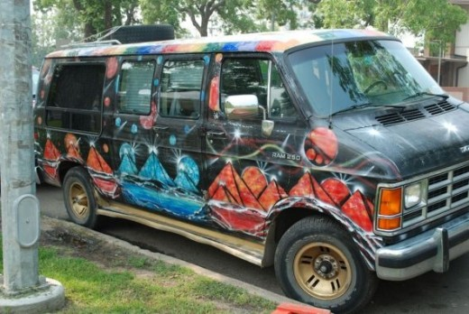 Even the vans are artistic during the Art Walk!