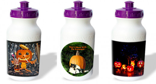 These are just a few of the many Halloween designs on water bottles found on the link in the source.
